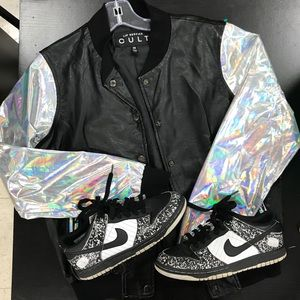 UO CULT By Lip Service Rare Hologram Bomber Jacket